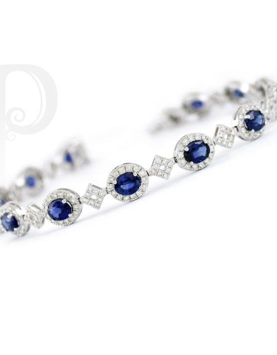 Blue Sapphire Amp Diamond Tennis Bracelet Penchant