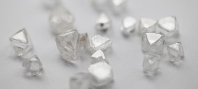 Rough diamonds at DTC, Botswana