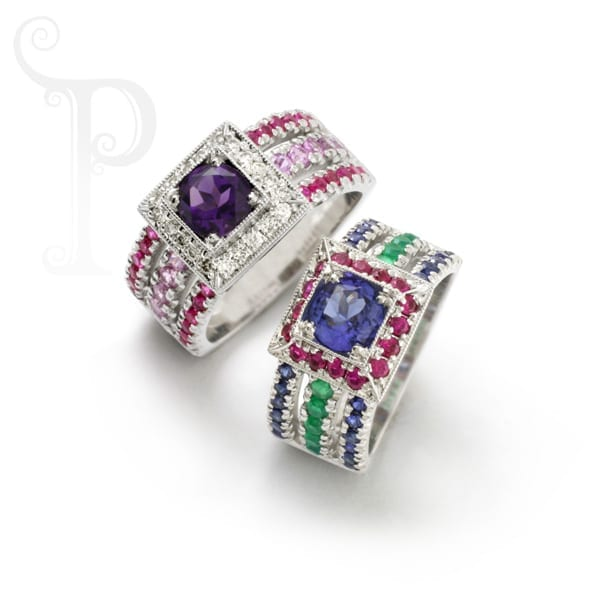 bespoke gemstone rings